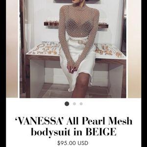 Long sleeve pearl bodysuit